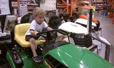 Ty wants a new mower