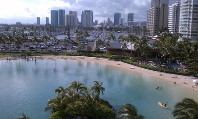 view from hotel - working in Hawaii is tough