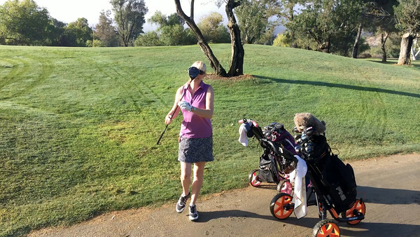 Fun golf with my lovely wife.