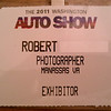 My Photographer pass for the Washington Auto Show
