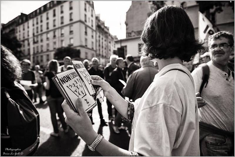 Manifestation contre la loi travail XXL. Paris, 12 septembre 2017.
