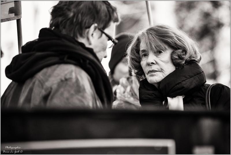Susan George lors du procès intenté par Apple contre Attac. <br /> Paris le 12 février 2018.