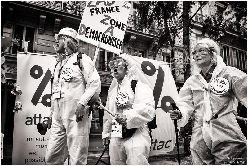 Marche pour l'égalité, la justice sociale et la solidarité. Paris, 26 mai 2018.