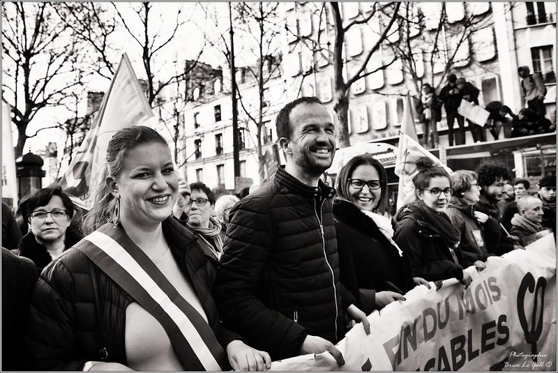 Manuel Bompard et Mathilde Panot (députée France insoumise)