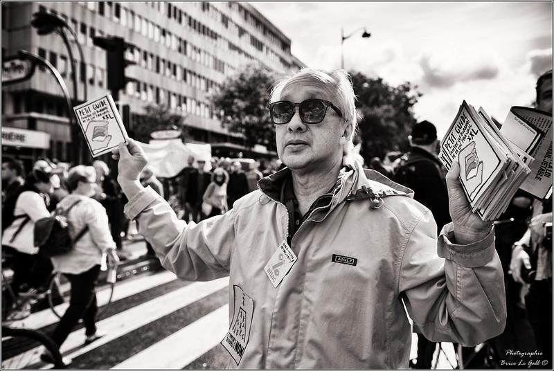"""Manifestation contre la loi travail dite """"XXL"""". Paris, 12 septembre 2017."""