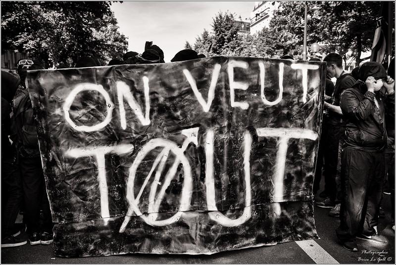 """Manifestation contre la loi travail dite """"XXL"""". Paris, 12 et 21 septembre 2017"""