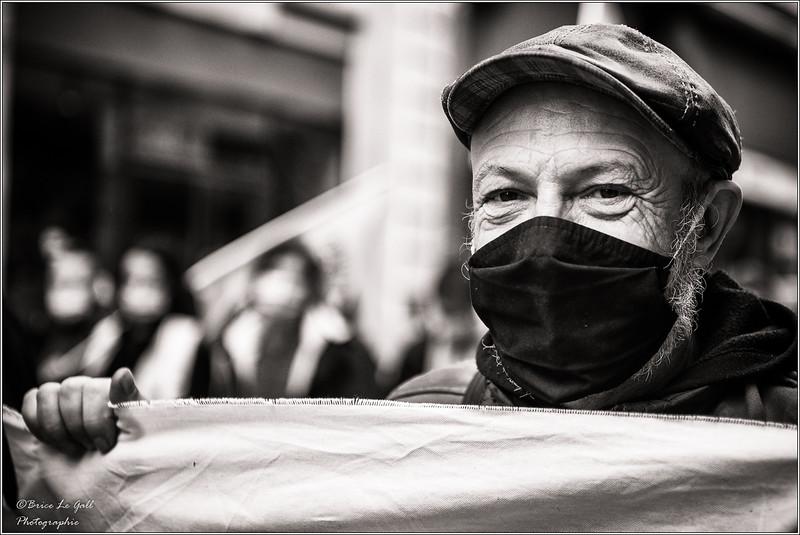 Première manifestation contre la réforme de l'assurance chômage. Paris,  26 mars 2021.