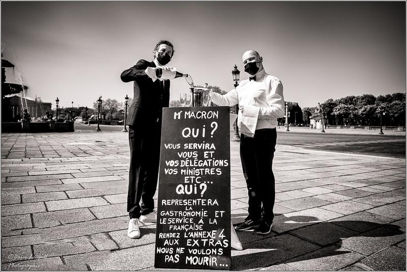 Apéro avec les Extras, Place de la Concorde, Paris, 22 avril 2021.