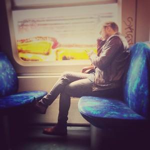 Train riding