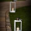 Pretty lanterns light the way to the lakeside gazebo