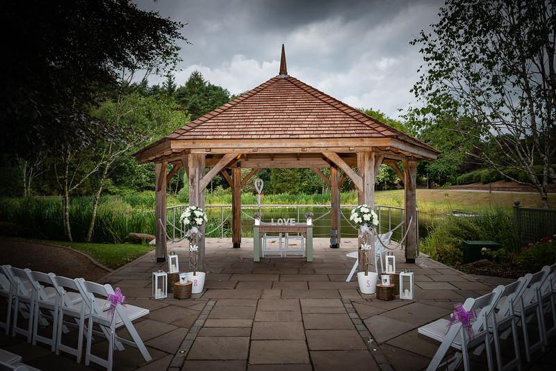Moddershall Oaks' open air wedding area
