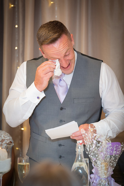 Dad gets a bit emotional during his speech