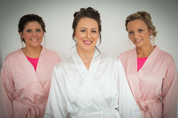 Stacey & her bridesmaids getting ready for her July wedding