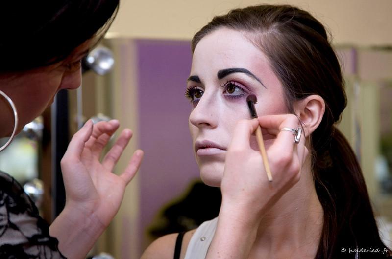 Maquillage artistique pour défilé de mode