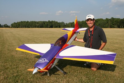 Bryan posing with his DA-50 powered Hangar 9 Extra 260
