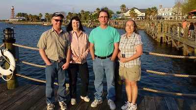 Don & Penny, Rick & Robin at Sumters Landing in The Villages.