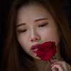 Amber with a Rose