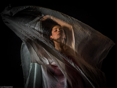 Under a white veil