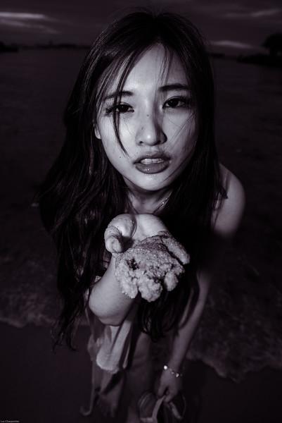 Wet sand offering