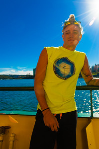 Handsome marine on the Manly ferry 2