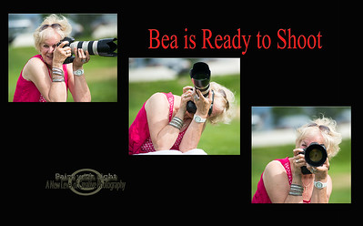 Bea is ready to shoot
