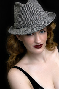 with a hat