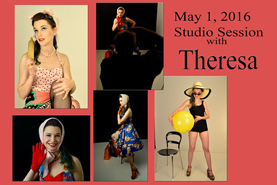 Theresa pin up studio session
