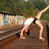 Yoga : Amber took on the 30 day challange at Bikram Yoga Langley. Last she surpassed the 150 day challange.