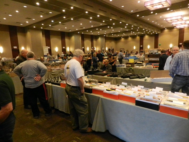 View to the left from entry door.  This is a big show.  Lots of O-scale stuff for sale.