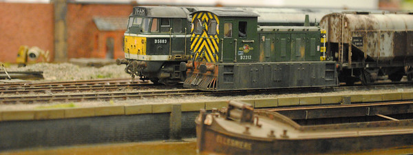 """Railex 2012 Canada Road operating its """"East Anglian"""" cameo with Class 31 and tramway fitted 04"""