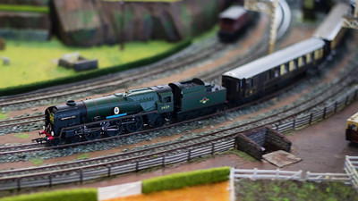 Video:  Brisbane Model Train Show 2014, presented by The Australian Model Railway Association Queensland Branch Inc. - A montage of stills photos and shorts videos on the 2014 Brisbane Model Train Show. The show was organised by the Australian Model Railway Association (AMRA), Queensland Branch Inc. About two thirds of the short videos were taken on a DSLR and the other third on an iPod Touch. There's no music here. If you'd like me to try the same video with rights free music, let me know and I'll give it a go. This video is also on Vimeo here: https://vimeo.com/99969514