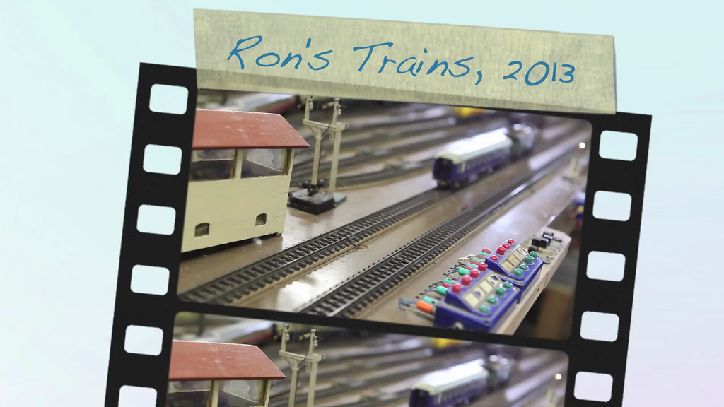 Ron's Model Railway Set which he has built up progressively over more than 60 years. Recorded in January 2013.