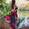 21 09-19 Becca black & pink dress 0851