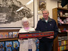 Kathy and Ed Leska show off the dome car that they donated for the Daylight passenger train (Phase 2).