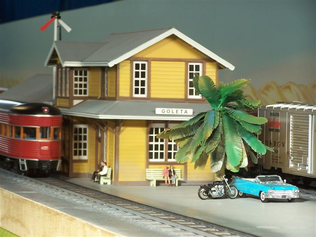 Model of Goleta Depot by Peter Cole appeared for a second time at the Perth (Australia) Model Railway Show, May 30-31, 2009. Scale: 1/29.