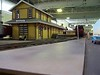 Model of Goleta Depot by Peter Cole, Dunsborough, Western Australia. Shown here at Perth Model Railway Show, May 31-June 1, 2008. Scale: 1/29.
