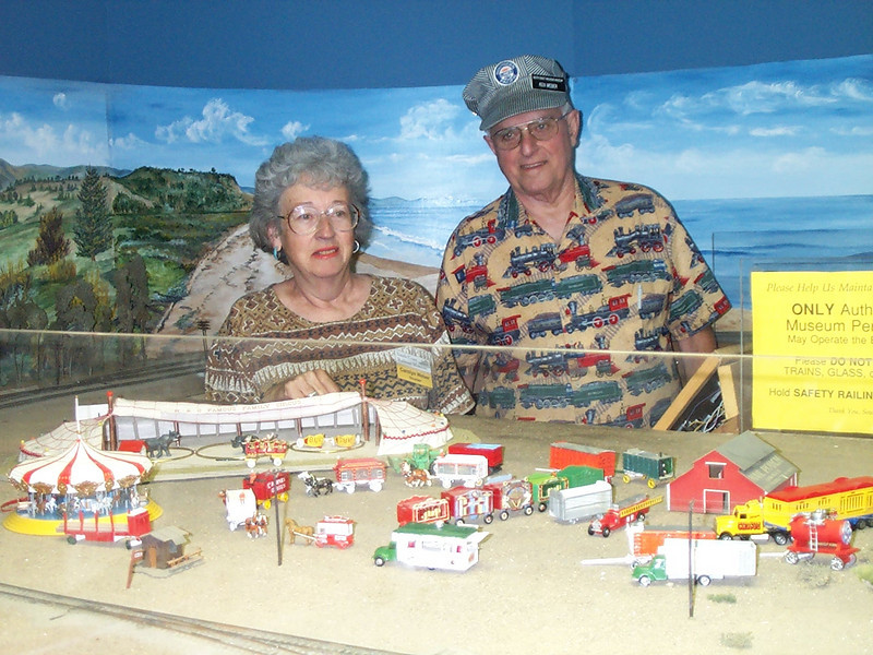 "Ken and Carolyn share their ""K&C Famous Family Circus,"" complete with operating circus train."