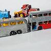 Matchbox No.66 Coach, No.74 Daimler Bus, No.39 Ford Tractor, No.65 Claas Combine Harvester