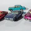 Matchbox No.76 Ferrari Berlinetta, No.14 Iso Grifo, No.67 VW 1600TL, No.25 Ford Cortina