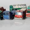 Matchbox No.30 8 Wheel Crane, No.10 Pipe Truck, No.29 Fire Pumper Truck, No.44 Refrigerator Truck