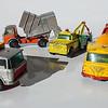 Matchbox No.47 Daf, No.7 Refuse Truck, No.13 Dodge Wreck Truck and No.21 Foden Concrete Truck