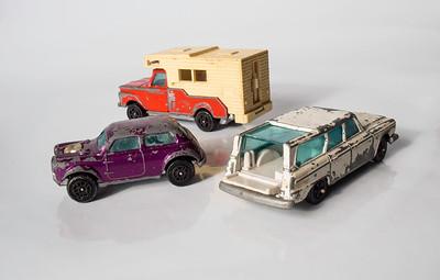Corgi Juniors B.V.R.T Vita-Mini 1300 Mini Cooper S, Ford Camper, Studebaker Wagonaire