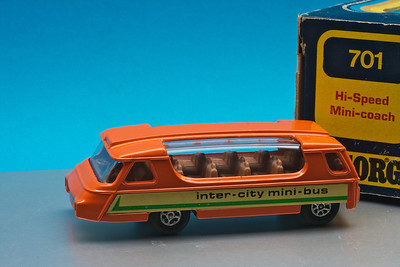 Large Corgi futuristic inter-city mini-bus from about 1975