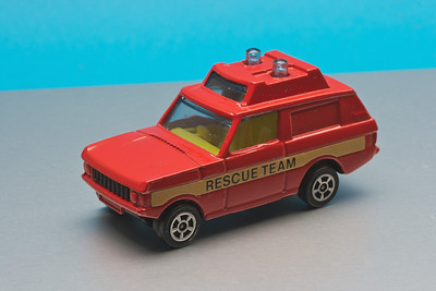 Small Corgi Range Rover in 'Rescue Team' livery