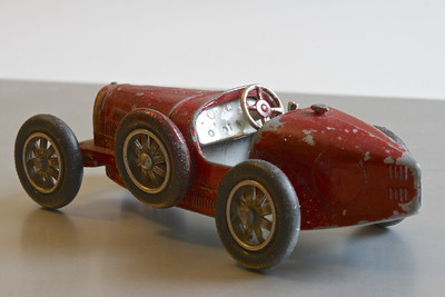 Matchbox Bugatti – these early Matchbox models were much better detailed than later ones.