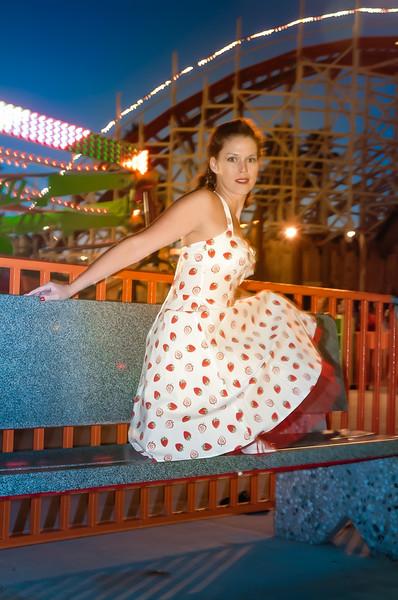 Mary Riley at The Boardwalk in Santa Cruz 2003