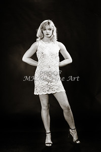Sexy Girl Model Black and White 1810.009