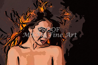 Implied Nude Girl Painting 1346.502