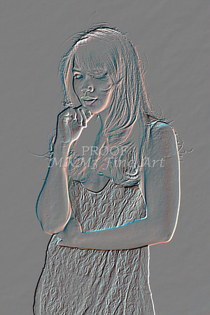 Implied Nude Girl Embossed 1346.611