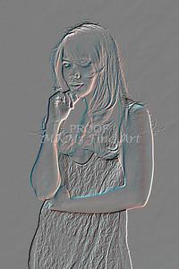 Implied Nude Girl Embossed 1346.611